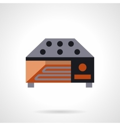 Industrial food dryer flat icon vector image