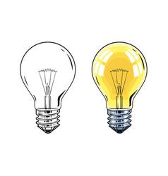 shining electric bulb vector image