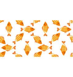yellow fish seamless pattern vector image vector image