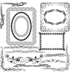 corners borders and ornaments vector image