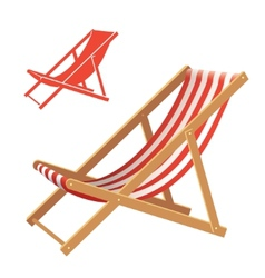 Deck chair vector image vector image