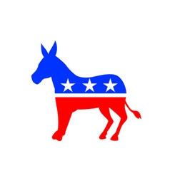 Donkey Mascot American Flag vector image vector image