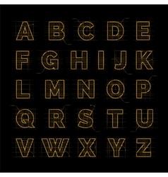 Golden font on black vector image
