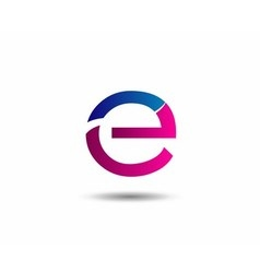 Sign of the letter E Branding Identity Corporate l vector image vector image