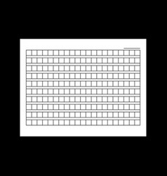10x21squared manuscript paper stock vector