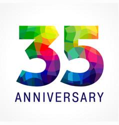 35 anniversary color logo vector