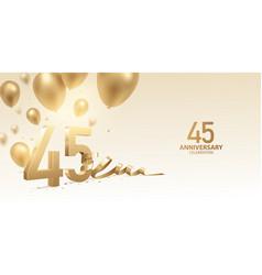 45th anniversary celebration background vector
