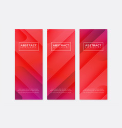 Abstract vertical banners with gradient design vector