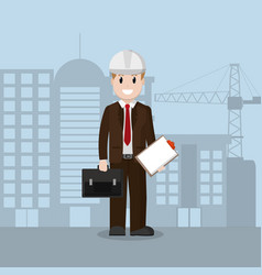 american engineer businessman vector image