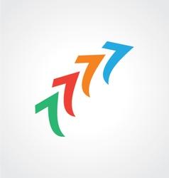 Arrow abstract colorful logo vector