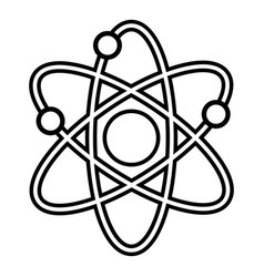 atom icon outline line style vector image