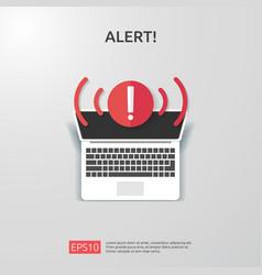 Attention warning attacker alert sign vector