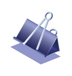 Binder clips isometric vector