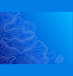 Blue background with topographic contour vector