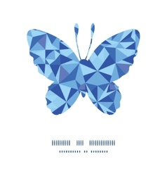 Blue triangle texture butterfly silhouette pattern vector