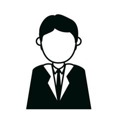 businessman character cartoon male executive vector image