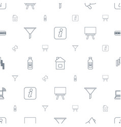 button icons pattern seamless white background vector image