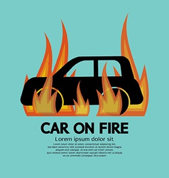 Car On Fire vector image