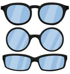 cartoon icon poster man black glasses spectacles vector image vector image