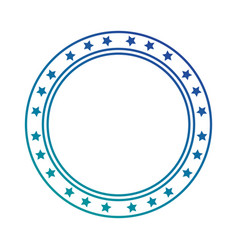 Circle seal with stars vector
