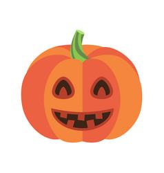 closeup of smiling pumpkin vector image