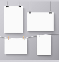 collection of hanging banners with different vector image