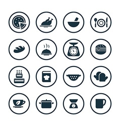 cooking icons universal set vector image vector image