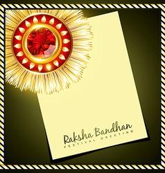 creative indian rakhi vector image