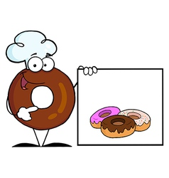 Donut cartoon vector image