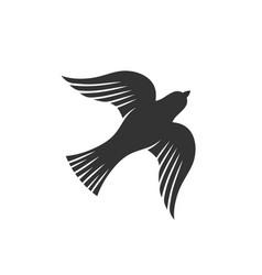 Dove is a symbol gods holy spirit vector