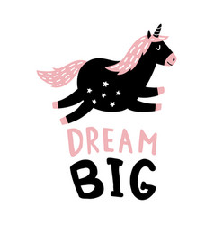 Dream unicorn vector