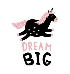 dream unicorn vector image