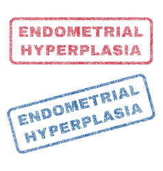 endometrial hyperplasia textile stamps vector image