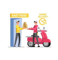 Fast food delivery chain express delivery vector
