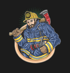 Firefighters eagerly to save lives illustration ve vector