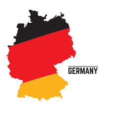 flag and map of germany vector image
