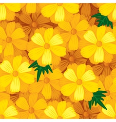 flower seamless orange vector image