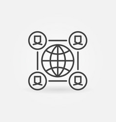 global online meeting or community line vector image
