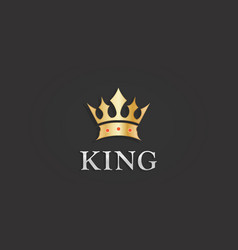 gold royal king crown symbol vector image