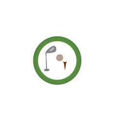 golf logo template vector image