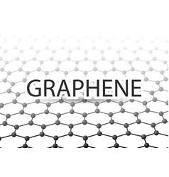 Graphene 3d carbon lattice black vector