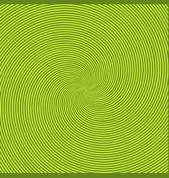 Green radiant background with circular swirl vector