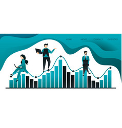 group people who are climbing or sitting on a vector image