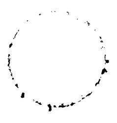 grunge circle stamp vector image