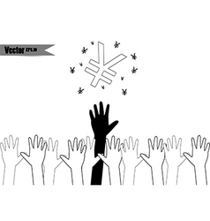 hands of different cultures vector image