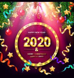 holiday gift card vector image