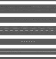 horizontal asphalt seamless roads road marking vector image