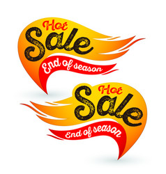 Hot fire sale labels stickers templates vector