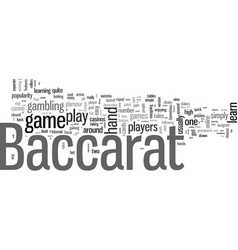 How to play baccarat vector