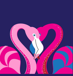 In love with a flamingo vector
